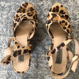 Steve Madden Shoes - Steve Madden Leopard Print Platform Wedges